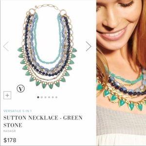 Stella & Dot | Green Stone Sutton Necklace